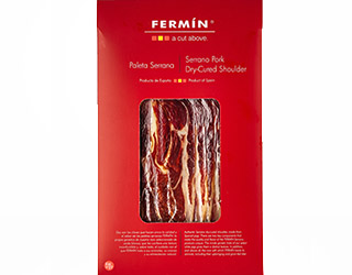 Sliced jamon serrano by Fermin